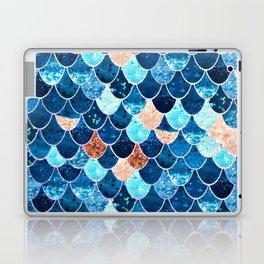 REALLY MERMAID BLUE & GOLD Laptop & iPad Skin