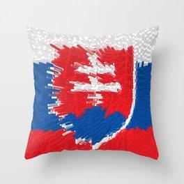 Extruded flag of Slovakia Throw Pillow