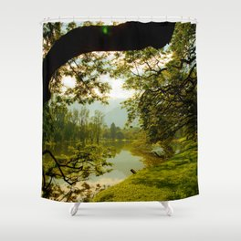 Breezy spring Shower Curtain