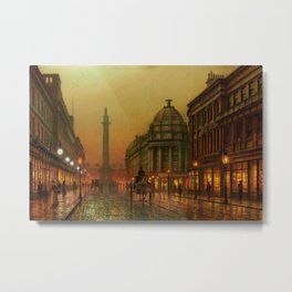 Grainger Street, Newcastle upon Tyne, England by Louis H. Grimshaw Metal Print