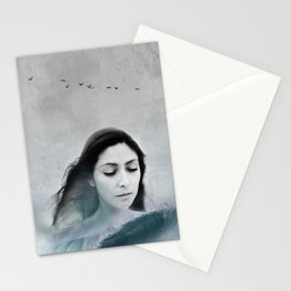 wave-portrait Stationery Cards