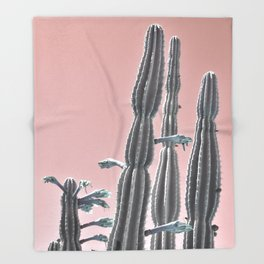 Cactus Bloom Throw Blanket