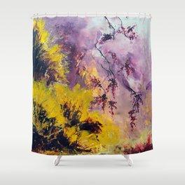 Les genêts et la glycine Shower Curtain