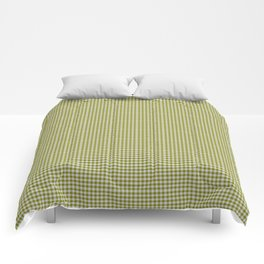 Olive Gingham Comforters
