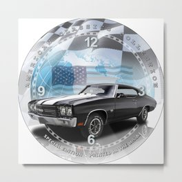 "1970 Chevrolet Chevelle SS Decorative 10"" Wall Clock (003ac Metal Print"