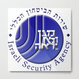 SHABAK Logo - The Shin Bet Metal Print