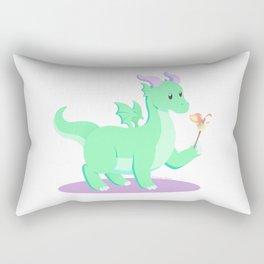 Kawaii fantasy animals - European Dragon Rectangular Pillow