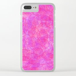 Pink and Purple Dots Clear iPhone Case