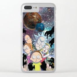 Rick _ Morty Clear iPhone Case
