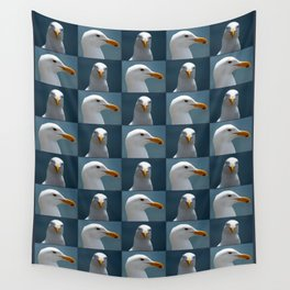 Seagull Faces Wall Tapestry