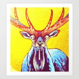 """Cornua ex Deo""Horns of God deer art Art Print"