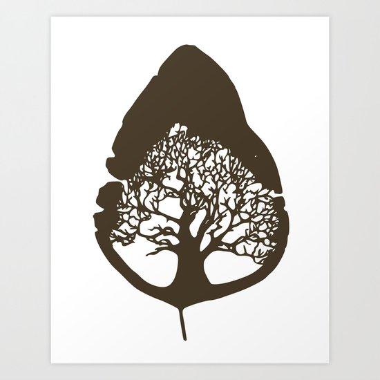Tree leaf Art Print