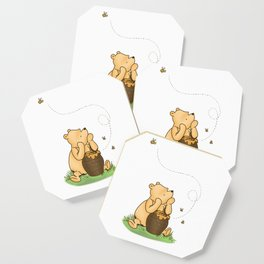Classic Pooh with Honey - No background Coaster