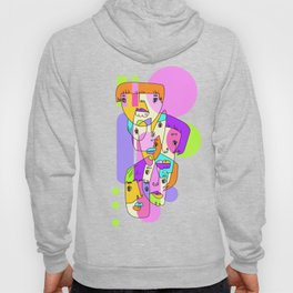 Abstract Faces JL7-20 Hoody