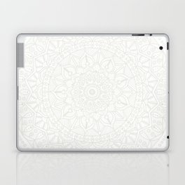 Cream on White Mandala Circle of Life Laptop & iPad Skin
