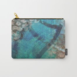 Detail of a Butterfly Abstract Painting Carry-All Pouch