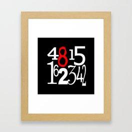 Lost Numbers in Black Framed Art Print