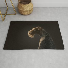 Airedale Terrier dog Rug