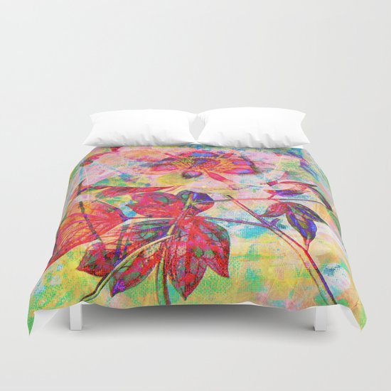 abstract anemone Duvet Cover