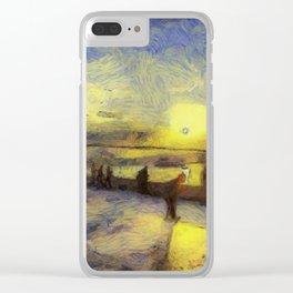 Bosphorus Sunset Van Gogh Clear iPhone Case