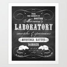 Dr. Moreau's Laboratory Art Print