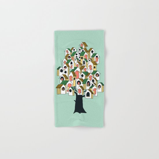 Bird houses Hand & Bath Towel