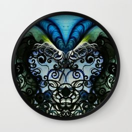 Psychedelic Goat Squid Wall Clock