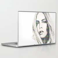 cara Laptop & iPad Skins featuring Cara Delevigne by fashionistheonlycure