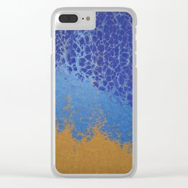 Blue and Gold 01 Clear iPhone Case