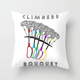 Rock Climbing Gear Freak Throw Pillow