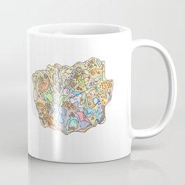 Opal Gemstone / October Birthstone Watercolor Painting / Illustration Coffee Mug