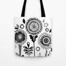 Folksy Flowerheads Tote Bag