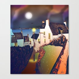 Hie Gait, the Town of Dysart, Fife in Scotland [Colour version] Canvas Print