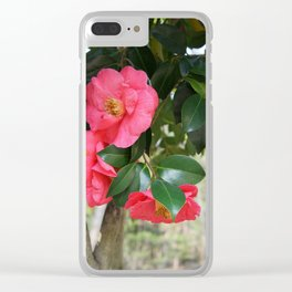 camellia flower Clear iPhone Case