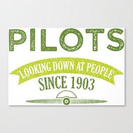 Pilot Proud Aviation Lover Gift Idea Canvas Print