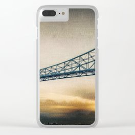 Steel Icon Clear iPhone Case