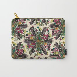 bohemian posy cream Carry-All Pouch