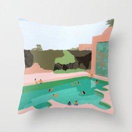 Backyard dip Throw Pillow