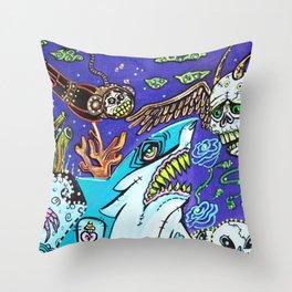 Dark Tide Throw Pillow
