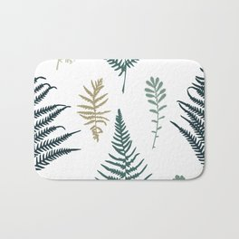Illustration of fern seamless pattern Bath Mat