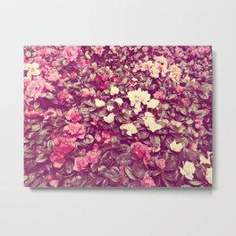Flower wall Metal Print