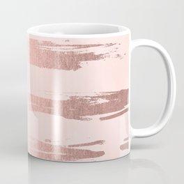 Rosegold Pink Stripes II Coffee Mug