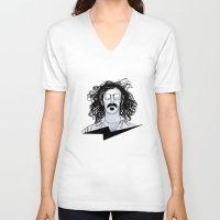 zappa V-neck T-shirts featuring Zappa by Franko Schiermeyer