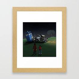 Time Machine Collision Framed Art Print