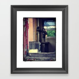 Left Behind When The Building Was Abandoned Framed Art Print