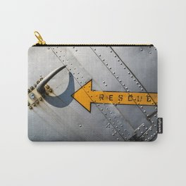 Airplane Metal Rescue Sign Carry-All Pouch