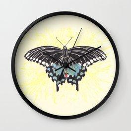 Small Spicebush Swallowtail Wall Clock