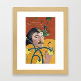 Self-Portrait with Halo and Snake by Paul Gauguin Framed Art Print