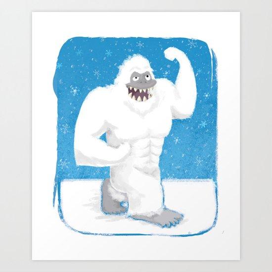Abdominal Snowman Art Print