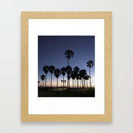 Sunset in Venice Beach LA Framed Art Print